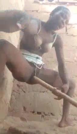 africana se graba singando un pilon XL