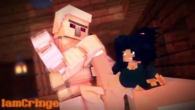 Chico de Cristal follando con Hierro en Minecraft
