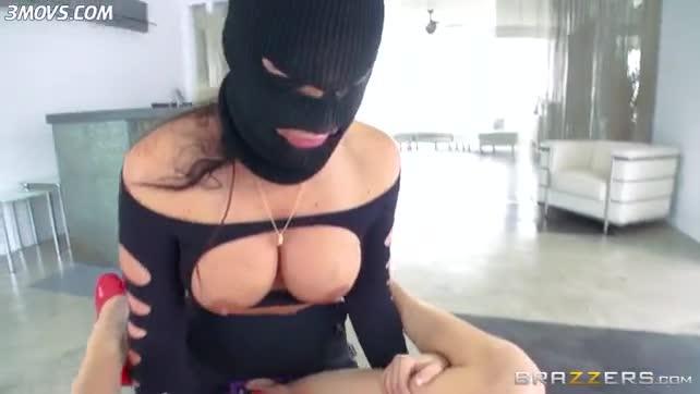 Phoenix Marie wearing mask penetrates