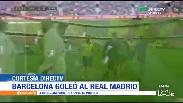 Violada del Barcelona al Real Madrid
