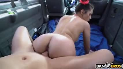 Perra chingando en una van